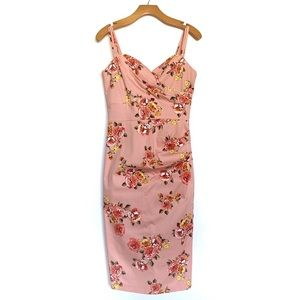 Stop Staring! | Arana Fitted Dress Pink Floral
